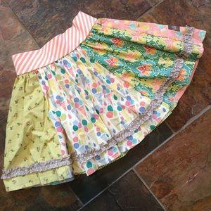 MATILDA JANE mixed pattern circle skirt 10 (H7)
